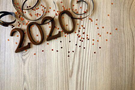 Happy New Year 2020 celebration background