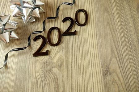 New Year 2020 greeting card or party invitation background concept