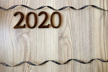 Happy New 2020 Year background, copy space for design