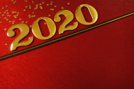 happy new year 2020 celebration background