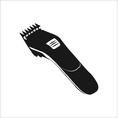 clipper: Hair clipper simple icon on white  background Illustration