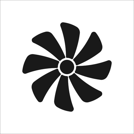 exhaust: Exhaust fan air conditioning sign simple icon on  background