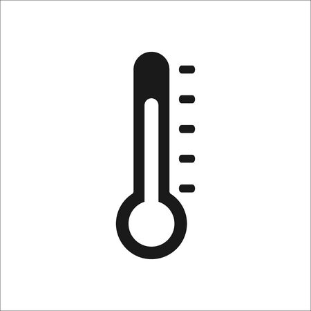 meteorological: Thermometer classic sign simple icon on  background