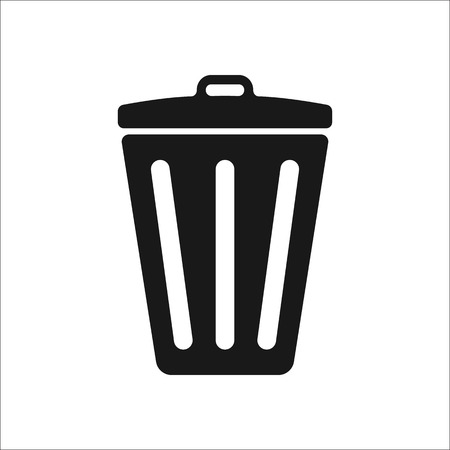 thrash: Recycle thrash can sign simple icon on background