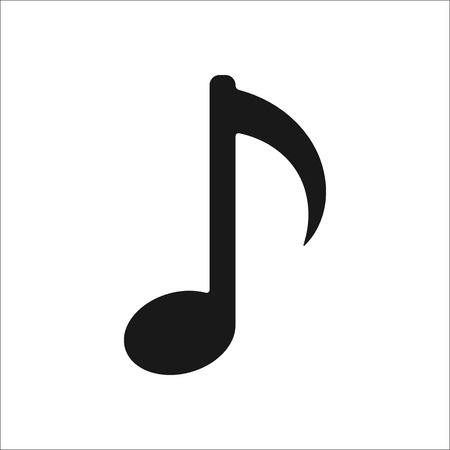 crotchets: Music note sign simple icon on  background