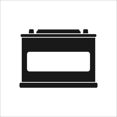 electrical part: Car battery accumulator sign simple icon on  background