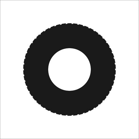 car tire: Road tire car sign simple icon on  background