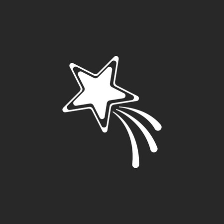 starfall: Shooting star sign  simple icon on background