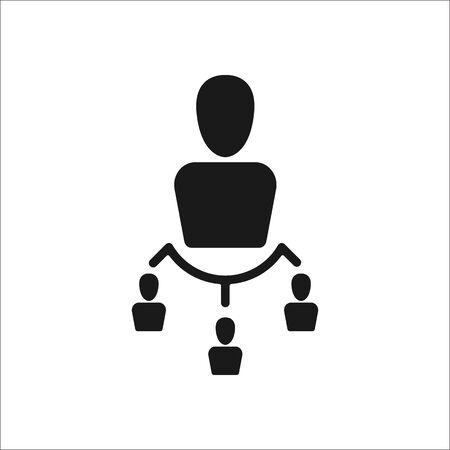 jerarqu�a: jerarqu�a del equipo signo simple icono en el fondo