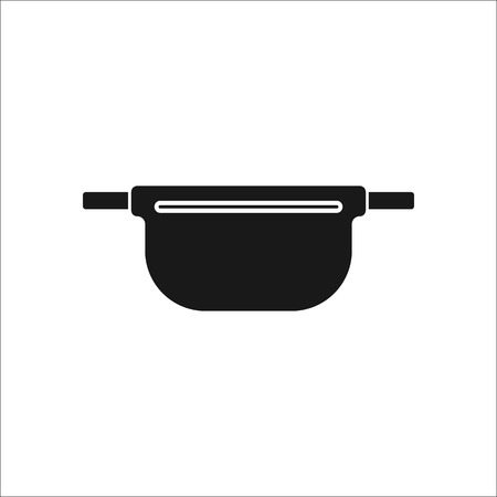 empty wallet: Travel Waist bag sign simple icon on  background Illustration