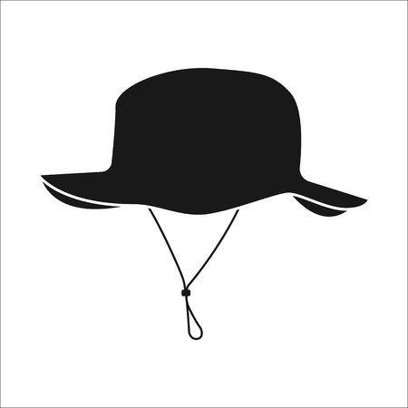 colonizer: Adventure tourist hat sign simple icon on  background