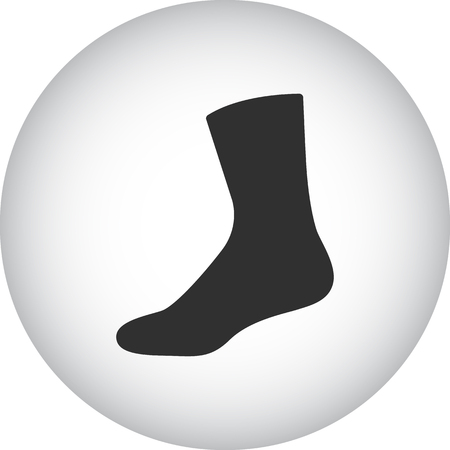 hosiery: Tourist sock sign simple icon on  background