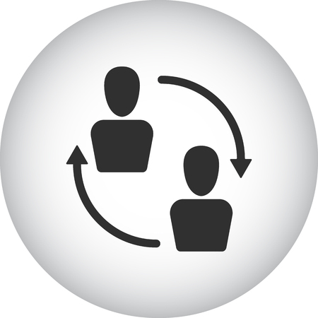social gathering: Team people communication sign simple icon on  background