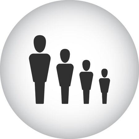 jerarquia: jerarquía del equipo signo simple icono en el fondo