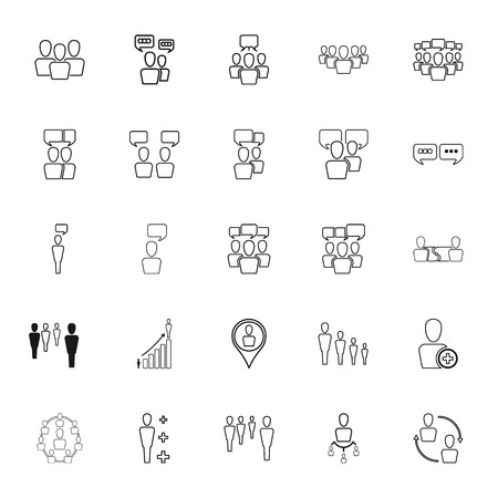 rewarding: Human resources and management simple icons set on background