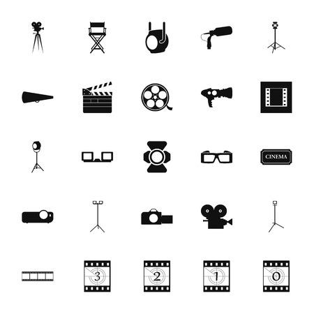 cine: Movie cinema icon symbol set on  background.