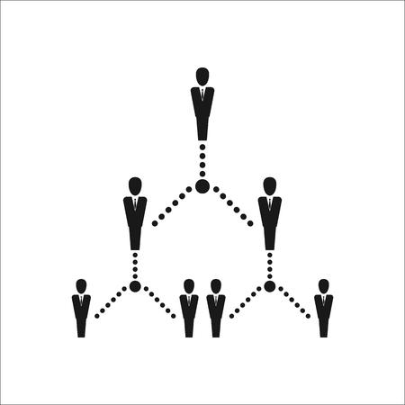 jerarqu�a: jerarqu�a de equipo de organizaci�n de negocios signo simple icono en el fondo