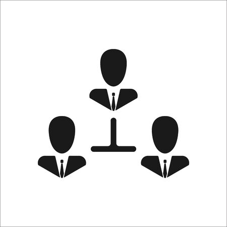 exchanging: Business communication. Conceptual illustration. Profile users connected icon. Social icons. Men exchanging symbol. Modern flat icon Illustration