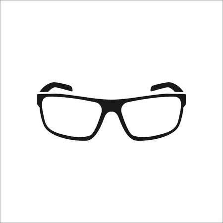 protective eyewear: Sport sunglasses sign simple icon on background