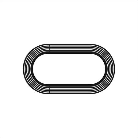 strive: Playground track sign simple icon on background
