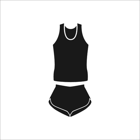 belly button: Sports wear set sign simple icon on background Illustration
