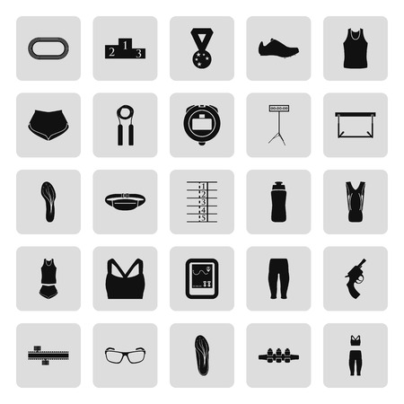 Führen Wettbewerb zeichen Icon-Set-Serie in der einzelnen Farbe Vektorgrafik