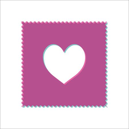 Acid stamp paper lsd simple icon on white background Illustration