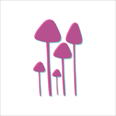 Psilocybin mushrooms simple icon on white background