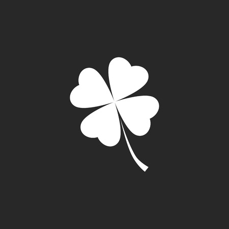 lucky clover: For leaf lucky clover sign icon on background Illustration