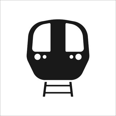 public figure: Passenger train front sign simple icon on background