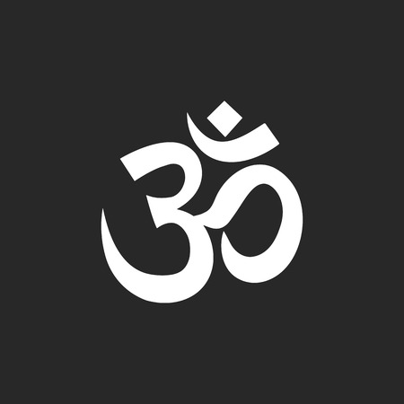 sanskrit: Om symbol Sign simple icon on background Illustration
