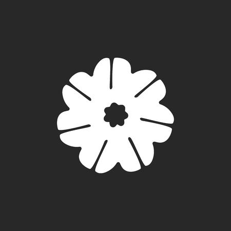 Rudraksha semillas símbolo de la muestra simple icono en el fondo