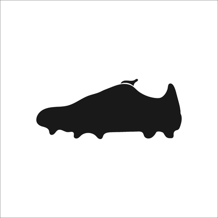 soccer shoes: Football boots, soccer shoes sign simple icon on background