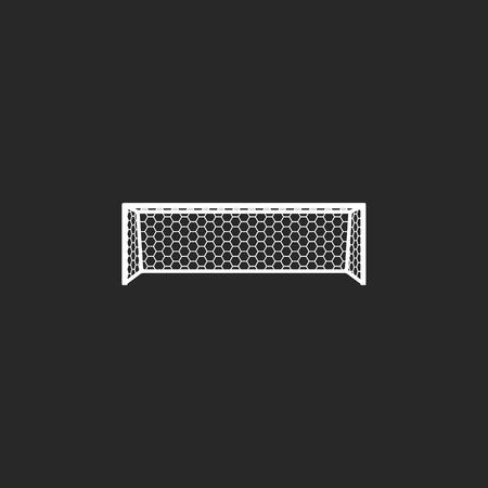 goal net: Soccer goal net sign simple icon on background Illustration