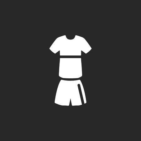 activewear: Soccer sport uniform simple icon on background