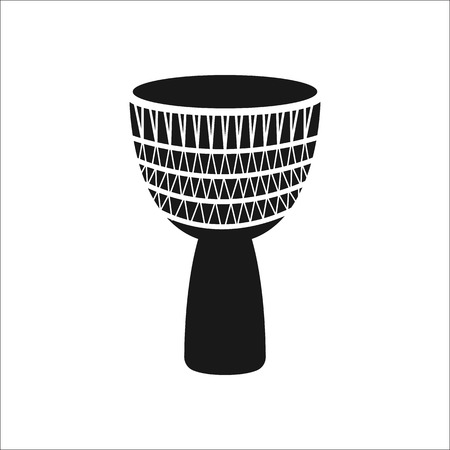 djembe drum: Djembe drum sign simple icon on background