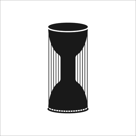 melodist: Djembe Congas Talking Drum sign simple icon on background