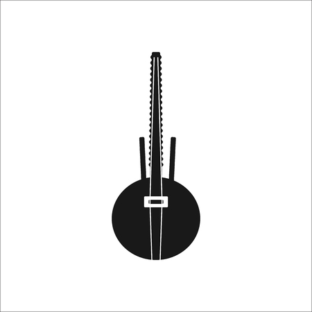 lute: African lute Kora sign simple icon on background Illustration