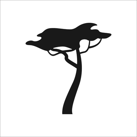 baobab tree: Baobab tree sign simple icon on background