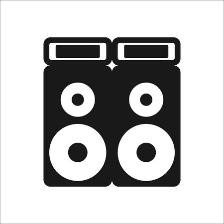 Festival sound system speaker sign simple icon on background Illustration