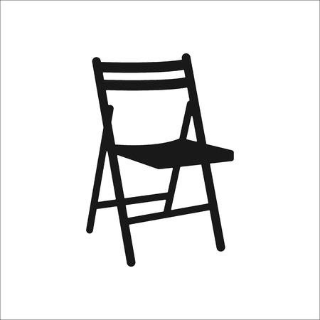 折りたたみ椅子記号単純なアイコンは、背景に祭