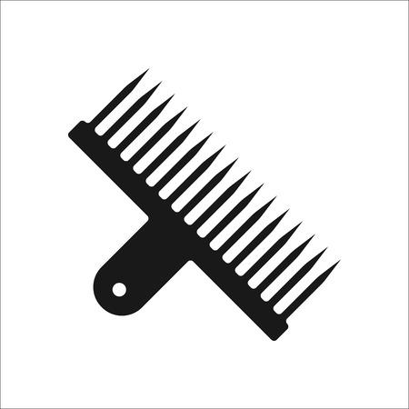Narguilé feuille perforatrice simple signe icône sur fond Banque d'images - 59840505
