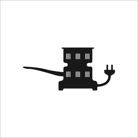 Claircissants de charbon Hookah simple signe icône sur fond Banque d'images - 59840542