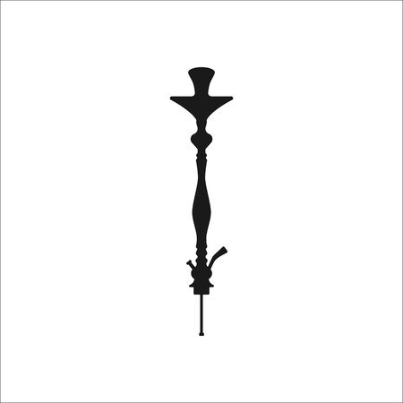 simple background: Hookah shaft sign simple icon on background
