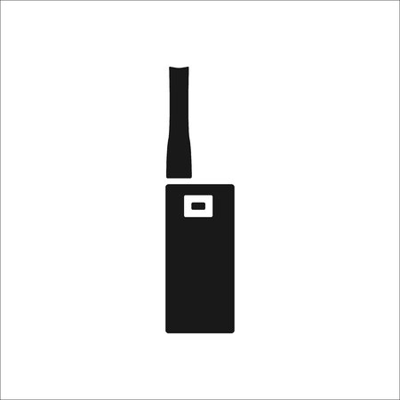 electronic background: Electronic Cigarette sign simple icon on background