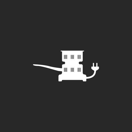 Claircissants de charbon Hookah simple signe icône sur fond Banque d'images - 59840882