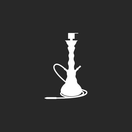 Hookah shisha sign simple icon on background