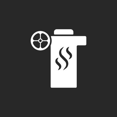 Charbon Hookah pompe électrique simple signe icône sur fond Banque d'images - 59840913