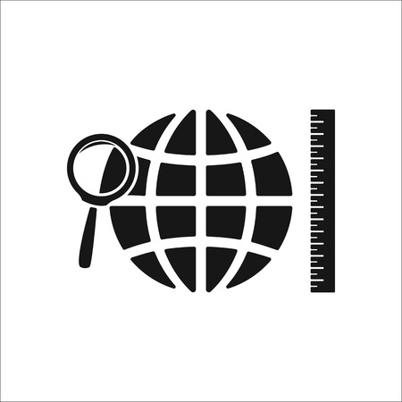 subject: Geography school subject sign simple icon on background Illustration