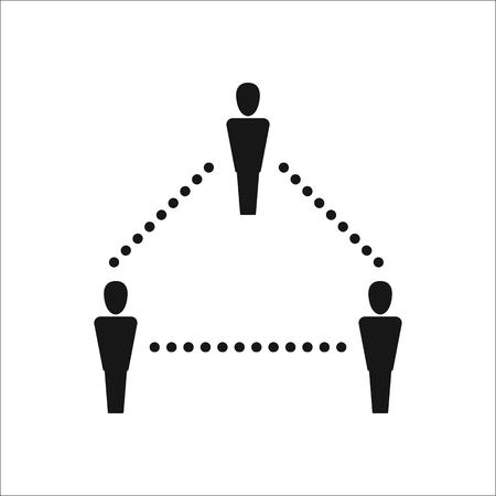 sociology: asignatura Sociología signo simple icono en el fondo